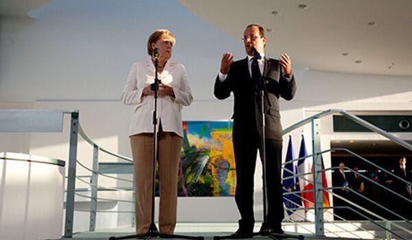 Angela Merkel se trompe de François... et évoque Mitterrand - Sputnik France