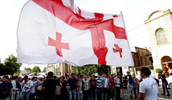 Géorgie : les dirigeants du parti de Saakachvili jetés par des pierres - Sputnik France