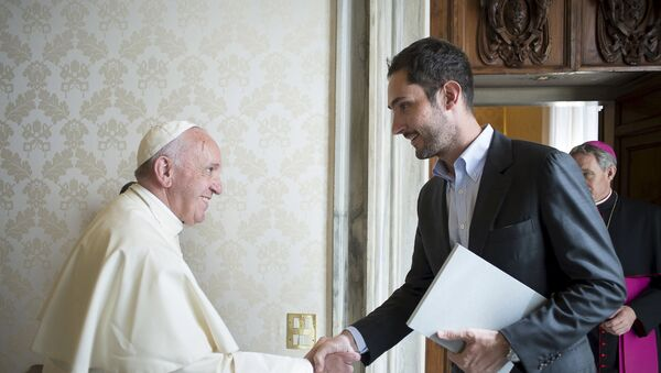 Le Pape François rencontre le fondateur d'Instagram Kevin Systrom - Sputnik France