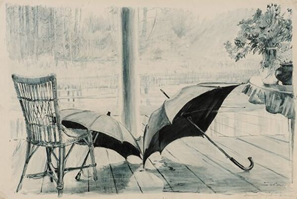 Terrasse. Les parasoleils, 1955 - Sputnik France