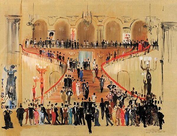 1946 – Bal à Olympie. Esquisse de décors pour le spectacle La Dame aux camélias - Sputnik France