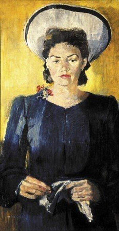 1943 – portrait de N.K.Pimenova en chapeau blanc - Sputnik France