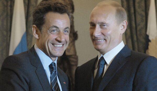 Rencontre informelle Poutine-Sarkozy à Sotchi - Sputnik France