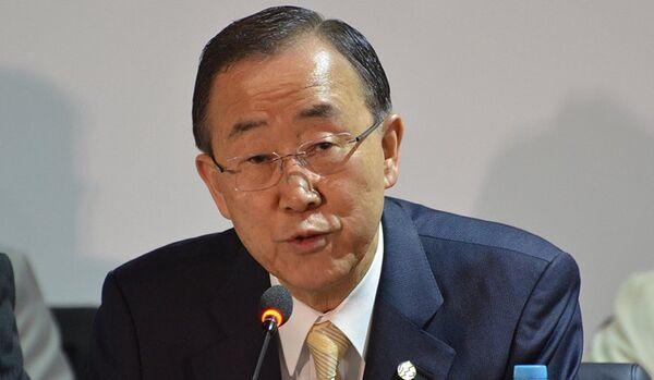 Ban Ki-moon appelle Kiev à lancer le dialogue avec Moscou - Sputnik France