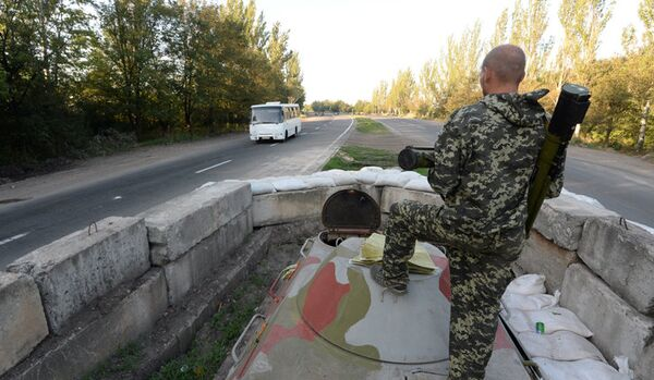 La milice fait état de destruction du matériel des forces de sécurité près de Gorlovka - Sputnik France