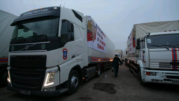 L'arrivée de nouveau convoi humanitaire russe attendue dans la RPD - Sputnik France