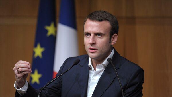 Le ministre français de l'Economie Emmanuel Macron - Sputnik France