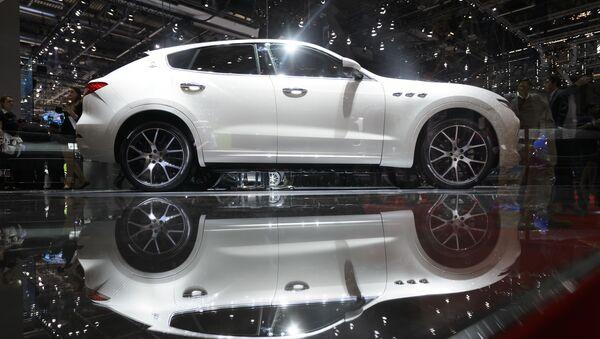Новая модель автомобиля Maserati Levante на 86-ом Международном Женевском автосалоне - Sputnik France