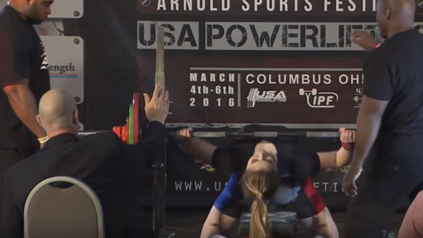 L'athlète russe Maryana Naumova bat un record du monde aux Etats-Unis - Sputnik France