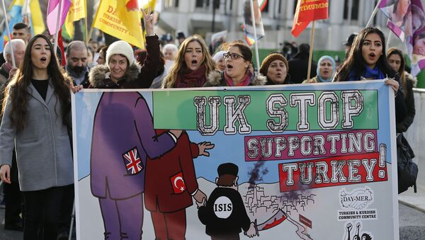 Une manifestation pro-kurde à Londres (archives) - Sputnik France