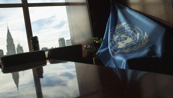 A United Nations flag is seen at U.N. Headquarters in New York September 25, 2013 - Sputnik France