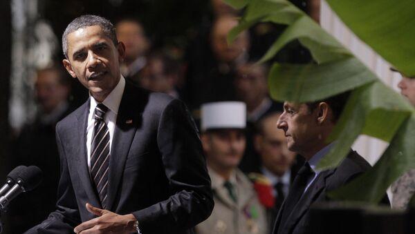 Barack Obama et Nicolas Sarkozy. Archive photo - Sputnik France