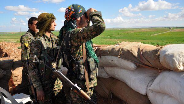 Combattants des YPG en Syrie - Sputnik France