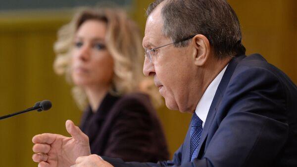 Le ministre russe des Affaires étrangères Sergueï Lavrov lors d'une conférence de nouvelles à Moscou. - Sputnik France