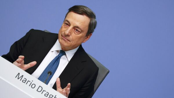 European Central Bank (ECB) President Mario Draghi addresses a news conference at the ECB headquarters in Frankfurt, Germany, March 10, 2016. - Sputnik France