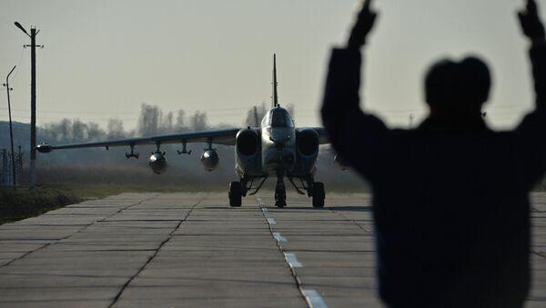 l'avion russe à partir d'une base  Hmeymim à Primorsko-Akhtarsk - Sputnik France