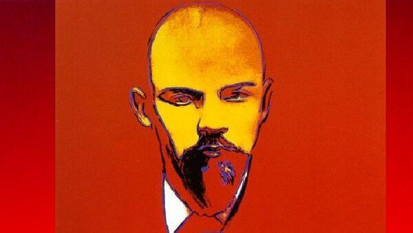 Картина Энди Уорхола Красный Ленин - Sputnik France
