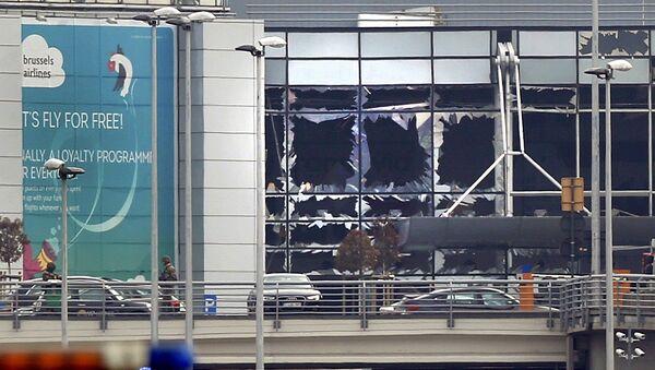 Aéroport de Bruxelles après les explosions du 22 mars - Sputnik France