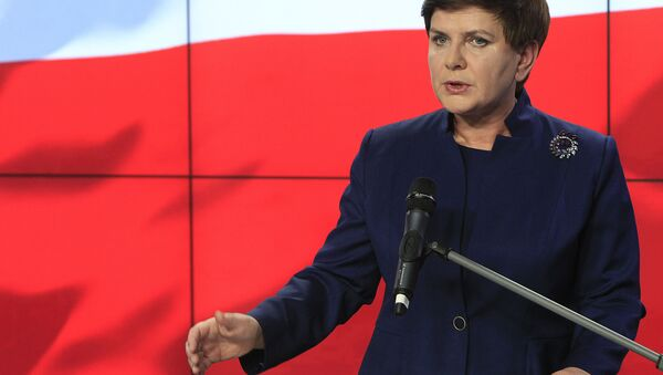 Candidate for the prime minister's post Beata Szydlo announces names for the new government in Warsaw, Poland, Monday, Nov. 9, 2015. - Sputnik France
