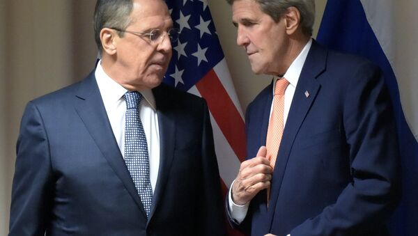 Russian Foreign Affairs' Minister Sergei Lavrov's meeting with U.S. Secretary of State John Kerry - Sputnik France