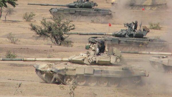 Indian Army's T-90 tanks in action. - Sputnik France