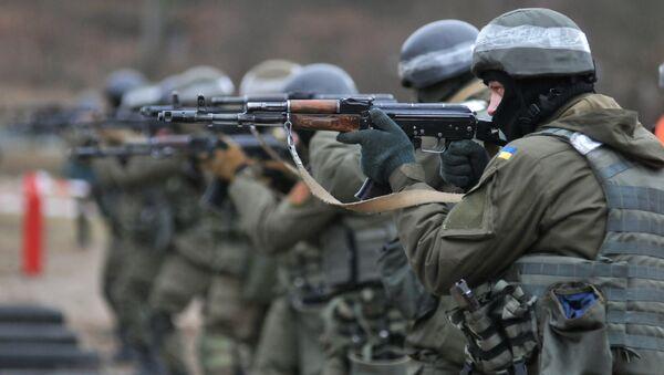 Les soldats de la Garde nationale de l'Ukraine lors des exercices de l'OTAN - Sputnik France