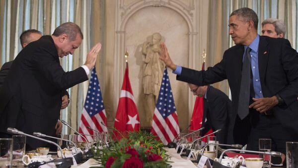 Recep Tayyip Erdogan et Barack Obama - Sputnik France