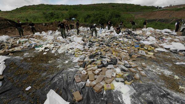 Cocaïne pour être brûlé à la périphérie de la ville de Panama - Sputnik France