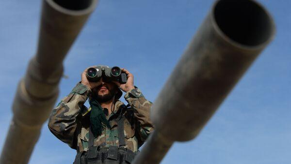 Des militaires syriens lors de l'offensive sur Al-Qaryatayn - Sputnik France