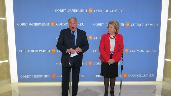 Gérard Larcher et Valentina Matvienko - Sputnik France