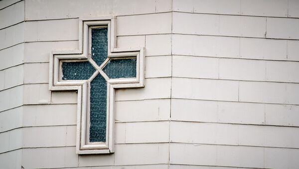 Une fenêtre de l'église Sainte-Marie à Nashville - Sputnik France