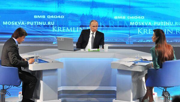 Ligne directe avec Vladimir Poutine, archives. - Sputnik France