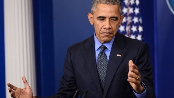 US President Barack Obama speaks during a press conference in the briefing room of the White House in Washington, DC (File) - Sputnik France