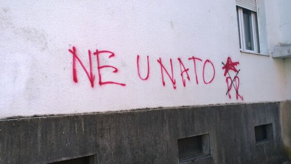 Le graffiti anti-OTAN au Monténégro - Sputnik France