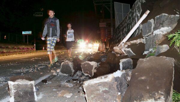 Conséquences du séisme dans la préfecture japonaise de Kumamoto - Sputnik France