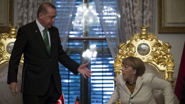 Angela Merkel et Recep Tayyip Erdogan - Sputnik France