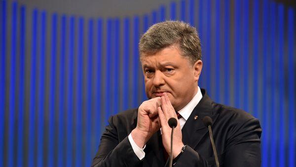 Ukrainian President Petro Poroshenko gestures during his press conference in Kiev on January 14, 2015. - Sputnik France