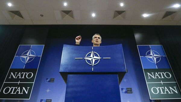 NATO Secretary-General Jens Stoltenberg holds a news conference during a meeting of the NATO foreign affairs ministers at the Alliance headquarters in Brussels - Sputnik France