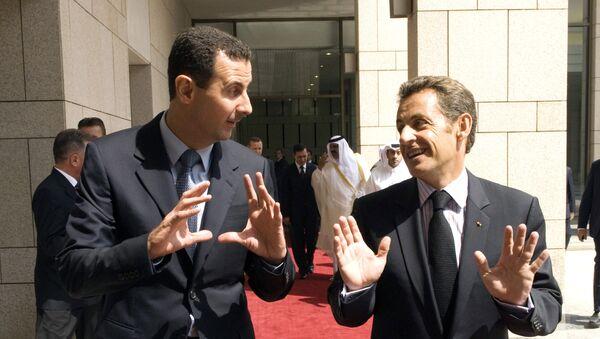 Assad et Sarkozy - Sputnik France