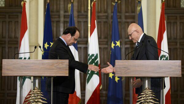 Le président français François Hollande et le Premier ministre libanais Tammam Salam - Sputnik France