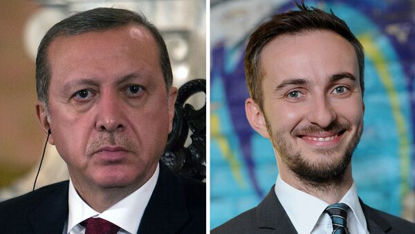 Recep Tayyip Erdogan et Jan Böhmermann - Sputnik France