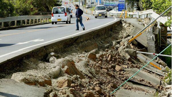 Les conséquences du tremblement de terre dans la préfecture de Kumamoto - Sputnik France