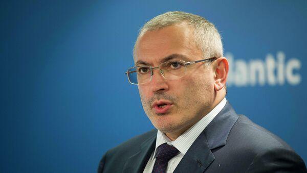 L'ex-PDG du géant pétrolier russe Ioukos Mikhaïl Khodorkovski - Sputnik France