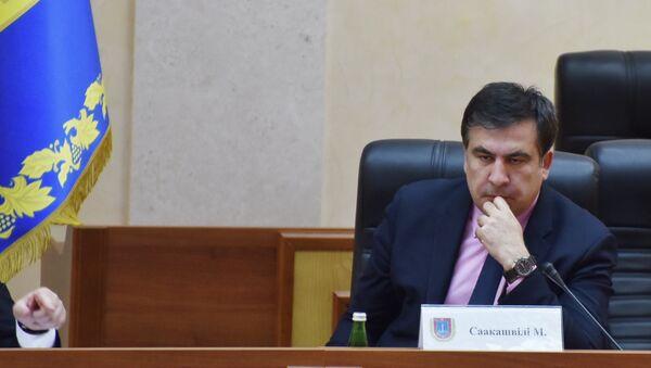 Der Gouverneur des ukrainischen Gebiets Odessa, Georgiens Ex-Präsident Michail Saakaschwili - Sputnik France