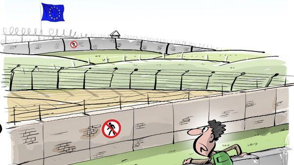 Migrants à Calais: 300 m de clôtures supplémentaires installées d'ici l'été - Sputnik France