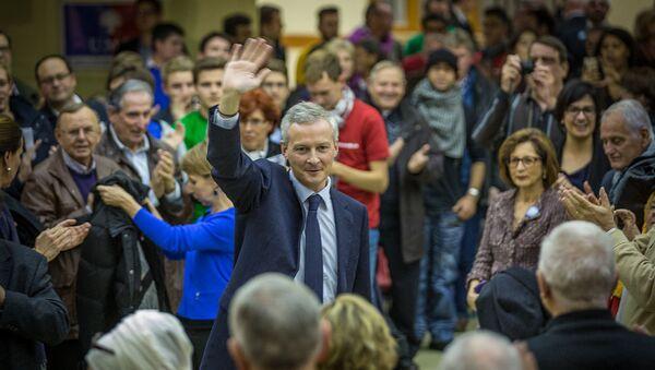 Bruno Le Maire en campagne pour la présidence de l'UMP à Strasbourg en novembre 2014 - Sputnik France