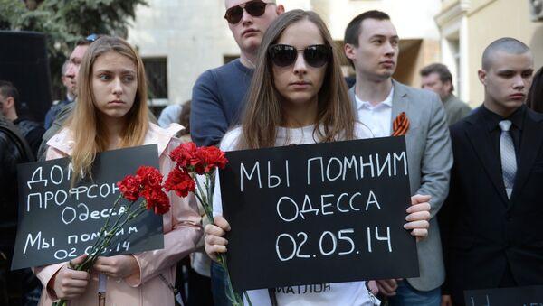 Une action de commémoration de la tragédie d'Odessa - Sputnik France