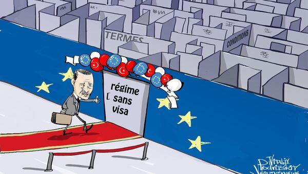 La Commission européenne recommande d'exempter les Turcs de visas - Sputnik France