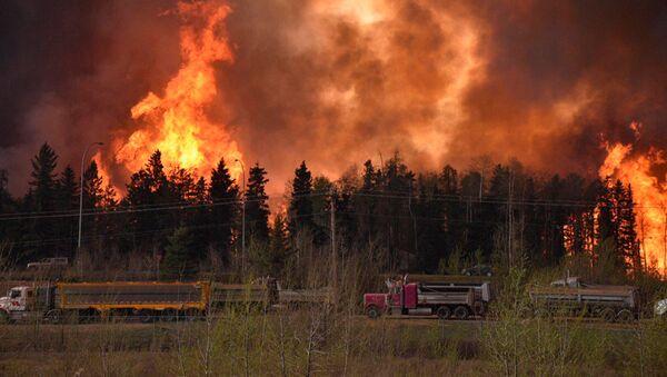 Le feu au Canada (image d'illustration) - Sputnik France