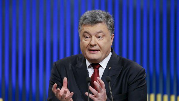 Der ukrainische Präsident Petro Poroschenko - Sputnik France